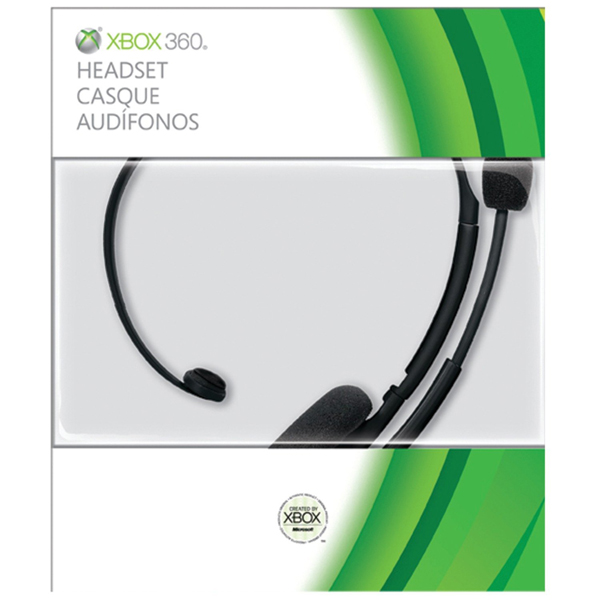 Xbox 360 Headset Official Black - Headsets & Mics - Xbox 360