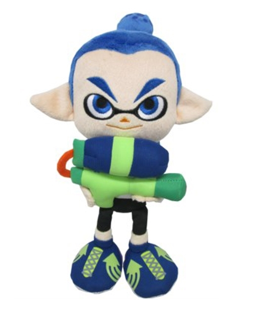 "Green Squid Sister Marie Splatoon 9/"" Plush"